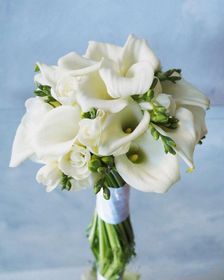 Свадебные букеты с каллы, цветов
